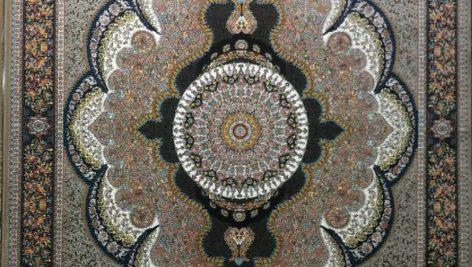 فرش آرشیدا گردویی ماشینی 700 شانه کاشان