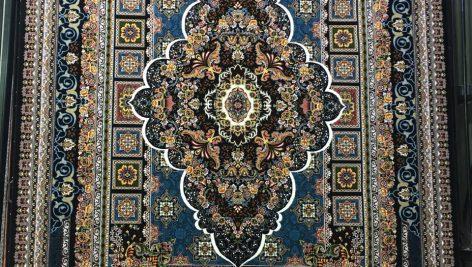 فرش ماشینی درجه یک اترین سرمه ای